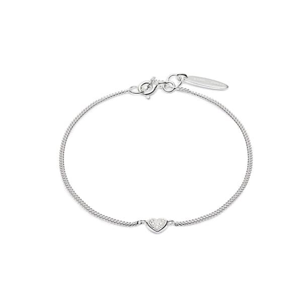 Mini Heart White Diamond Bracelet