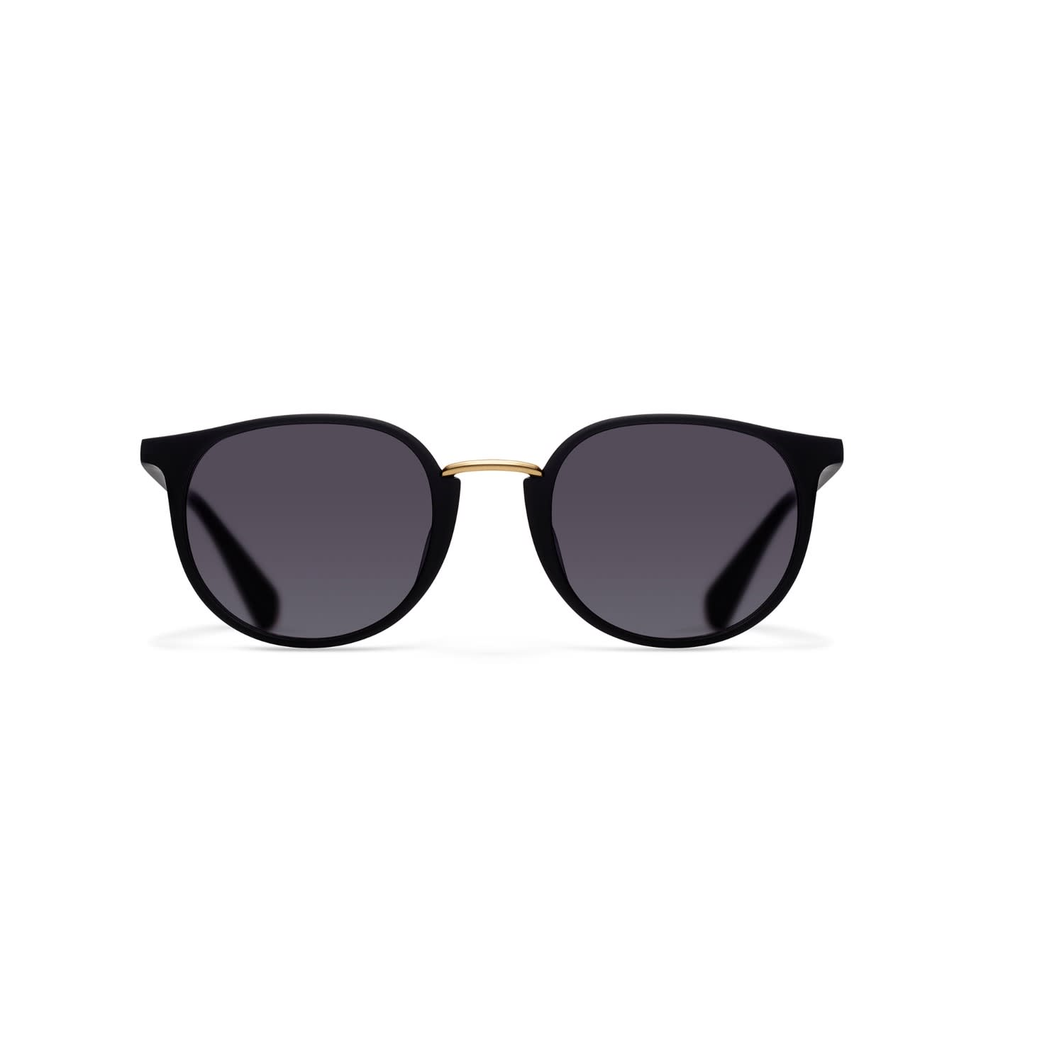 e61ee0b92b Harbour 'Catwalk' - Classic Round Sunglasses in Black by NOTINLOVE