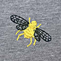 Bee Embroidered T-Shirt Grey Women image
