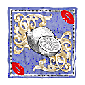 Metaphysic Foulard With Lemons Print On Light Blue Background image