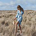 Mika Back Cutout Dress Sky Blu image