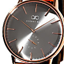 August Berg Serenity Rosegold Classic Ash & Orchid - Light Brown Leather 40mm image