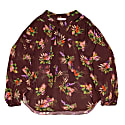 Greta Lame Flower Print Sheer Blouse image
