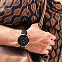 Moderno Vegan Leather Watch - Gold & Black image