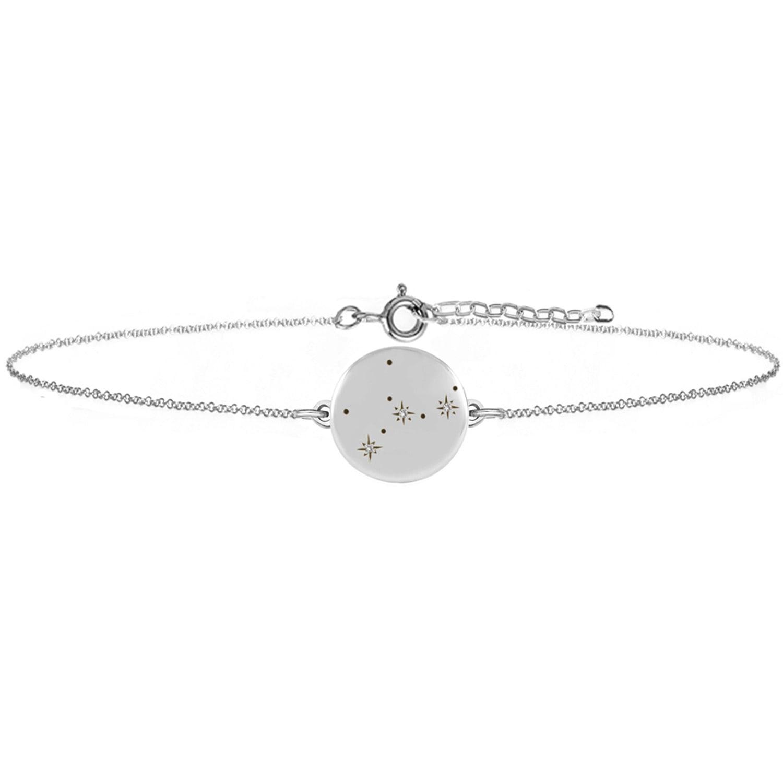No 13 - Virgo Zodiac Constellation Bracelet Diamonds & Silver