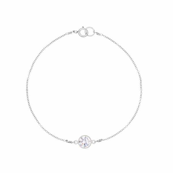 LILY & ROO Sterling Silver Gemstone Bracelet