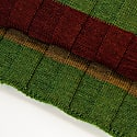 Burgundy Multi Striped Wool Scarf image
