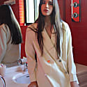 Wool Blazer In Ivory image