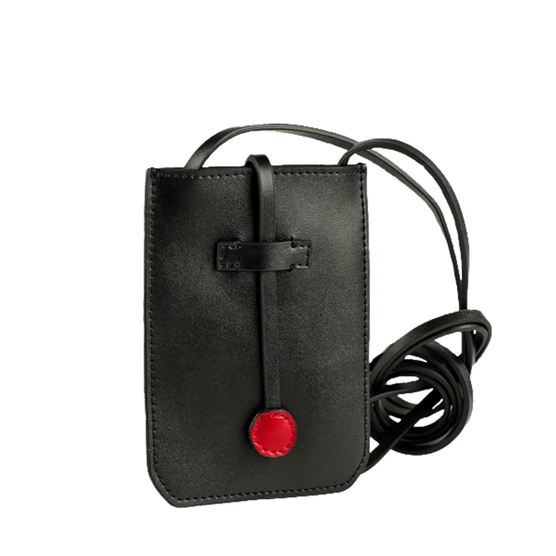 82ece609c1ec Cambridge Leather Phone Crossbody Bag Black