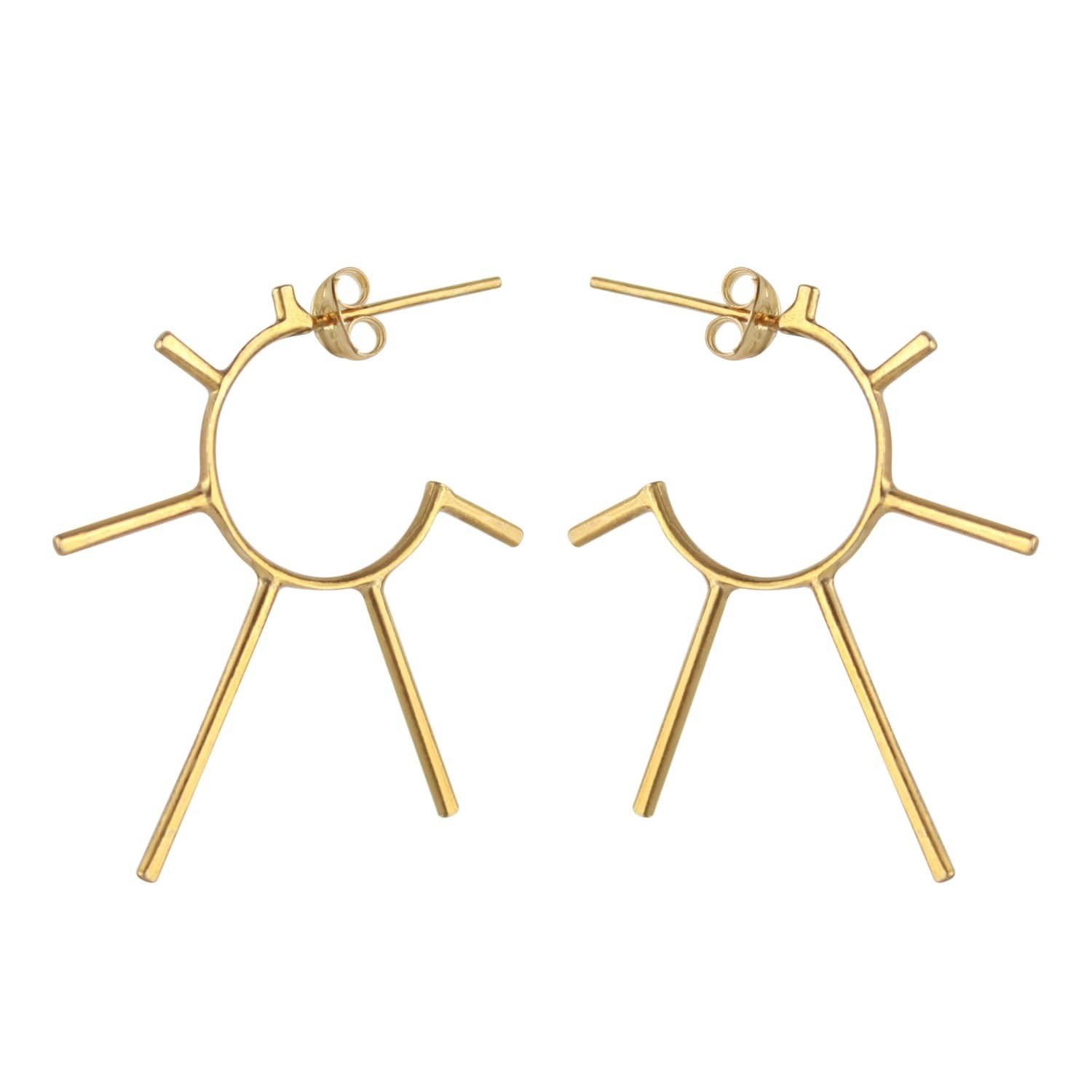 58d72c13c Gold Light Punk Sunshine Hoops | Marcia Vidal | Wolf & Badger