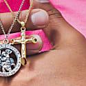 Gold Crucifix Necklace image