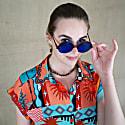 Soft Viscose Summery Print Red-Blue Shirt image
