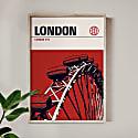 London Eye Modernist Architectural Travel Poster image