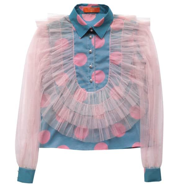 SUPERSWEET X MOUMI Hatteras Shirt Polka Dot Pink