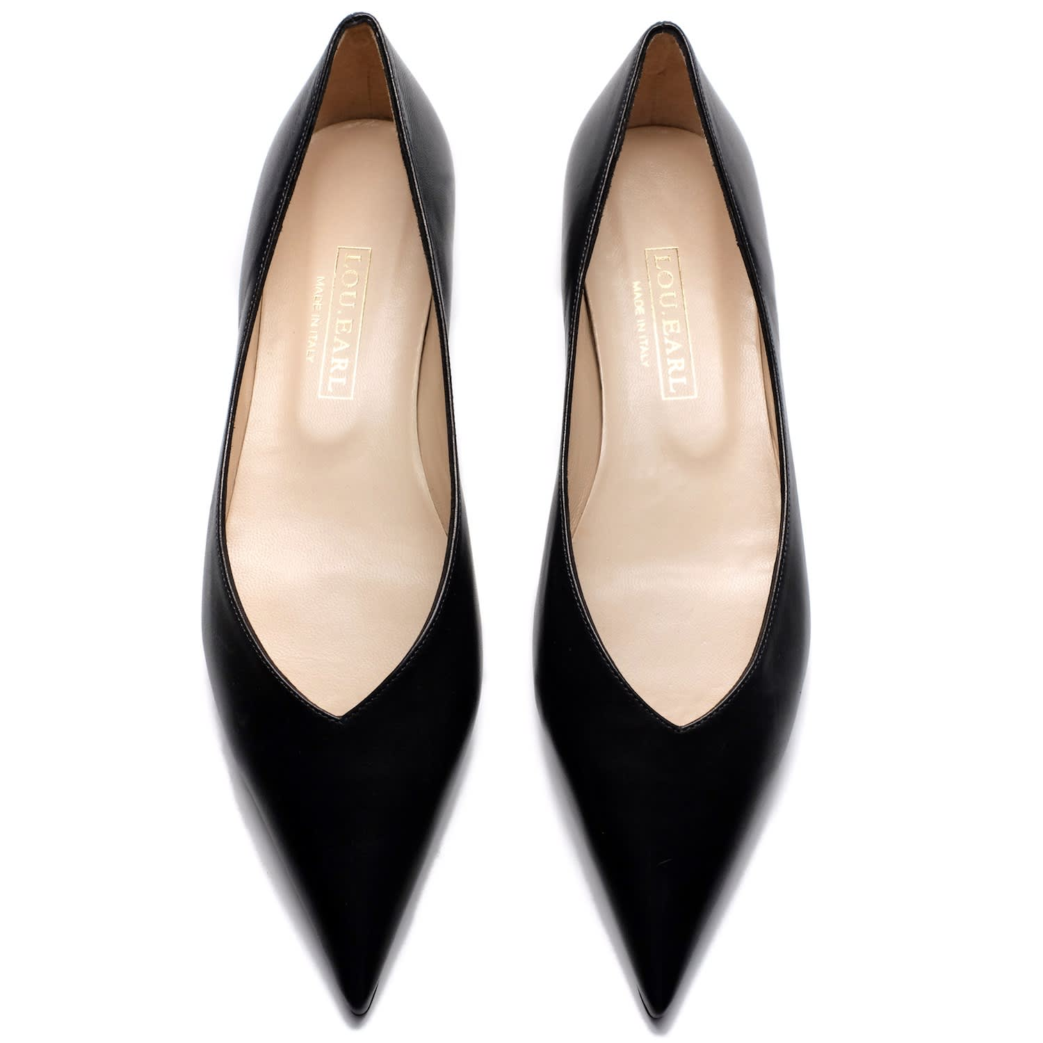 586ee6e0d Vivienne Ultra-Pointed Flats In Black | LOU.EARL | Wolf & Badger