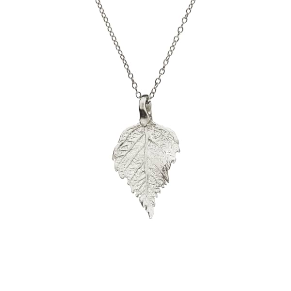 CHUPI The Sweetest Thing Tiny Raspberry Leaf Necklace Silver