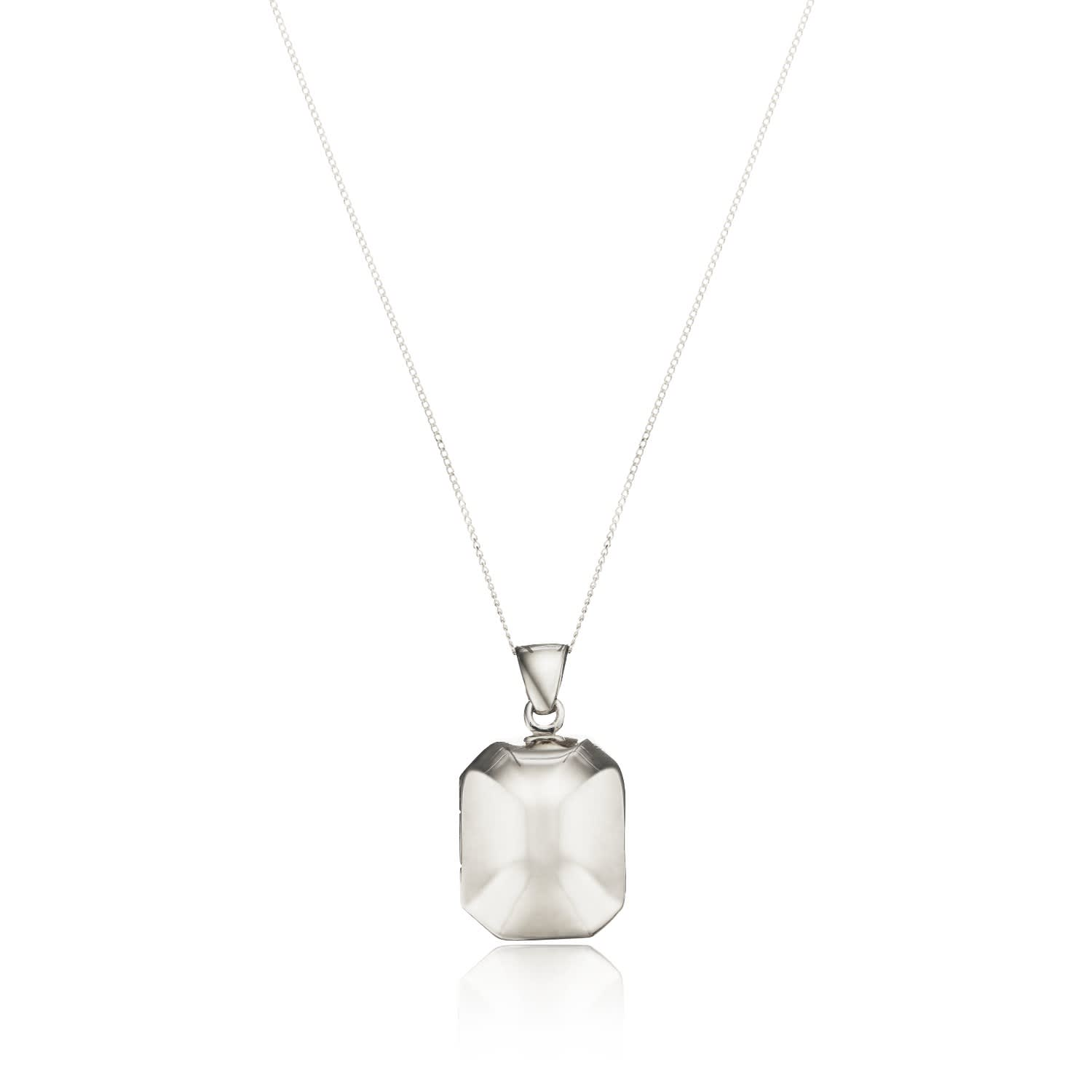 Lucy Medal Necklace FB Jewels 925 Sterling Silver 15mm Round St