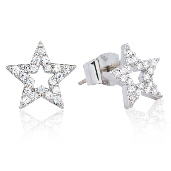 Tricks Star Stud Earrings Silver
