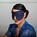 Pure Mulberry Silk Lavender Eye Mask Navy image