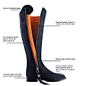 The Regina Navy Blue - Suede Boot image