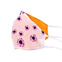 Two-Sided White Daisy & Orange Silk Face Mask image