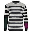 Colour Block Striped Jumper Men image