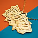 POW Pendant Extra Large in Gold image