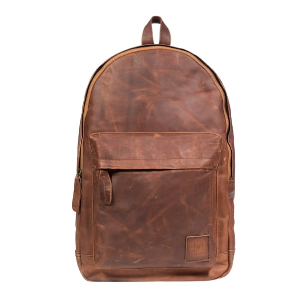 Leather Classic Backpack Rucksack In Vintage Brown