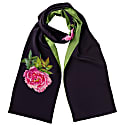 La Pivoine Scarf Midnight Blue And Green image