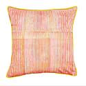 Pink Kotiya Large Cotton Cushion With Yellow Piping image