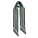 Henley Silk Stripe Neck Scarf Long Blue image