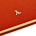 A5 Hard Cover Hardy Notebook The Rollo Collection Orange - Gold Page Edges image