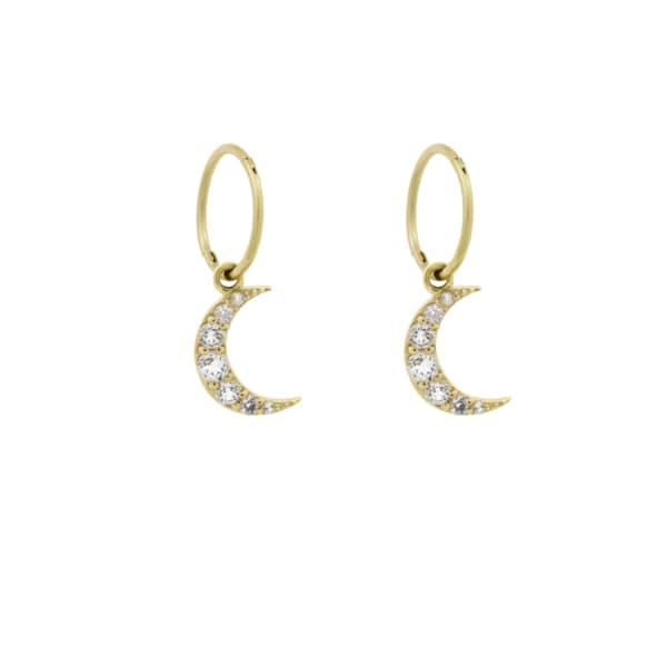 MONARC JEWELLERY Moonlight Hoops Gold Vermeil & White Topaz