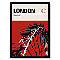 London Eye Modernist Architectural Travel Poster image
