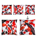 Koi I Large Velvet Floor Cushion Style 2 image