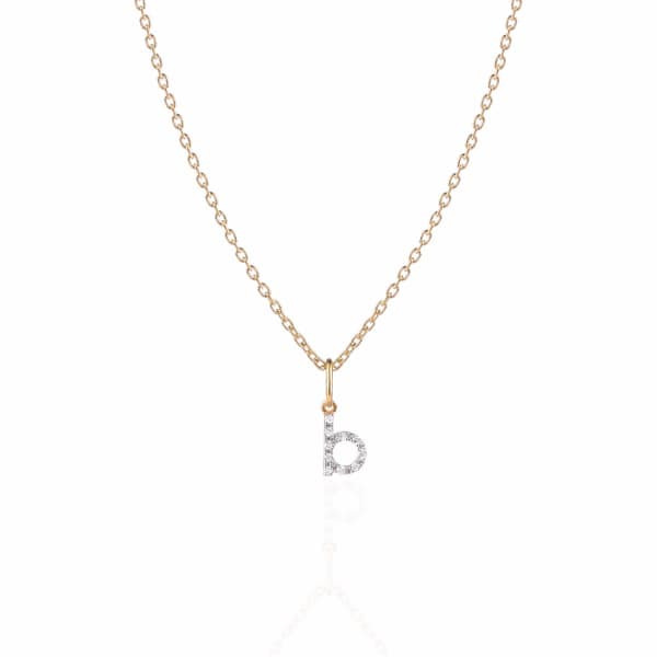 SHARON MILLS LONDON Monogram Mini Diamond Necklace B