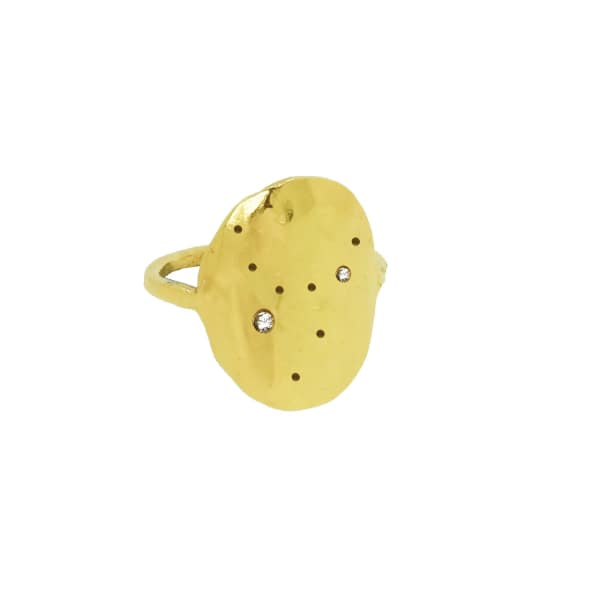 YVONNE HENDERSON JEWELLERY Virgo Constellation Ring With White Sapphires Gold