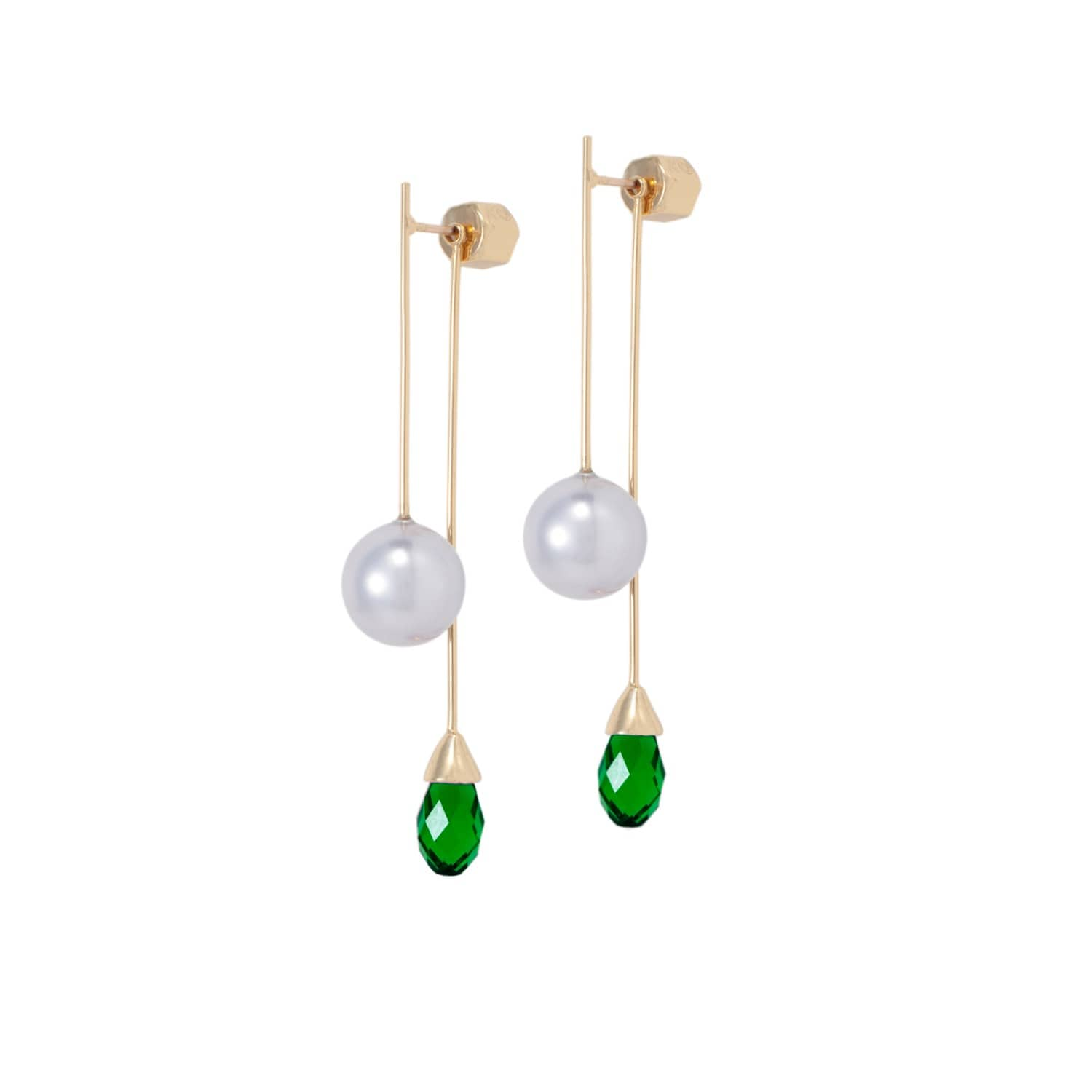 rod image wolf badger yang o pearl us earrings emerald