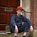 Fisherman Hat - Men's Hat In Rust Orange Corduroy image