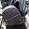 Mini Backpack In Ebony Black Full Grain Leather image