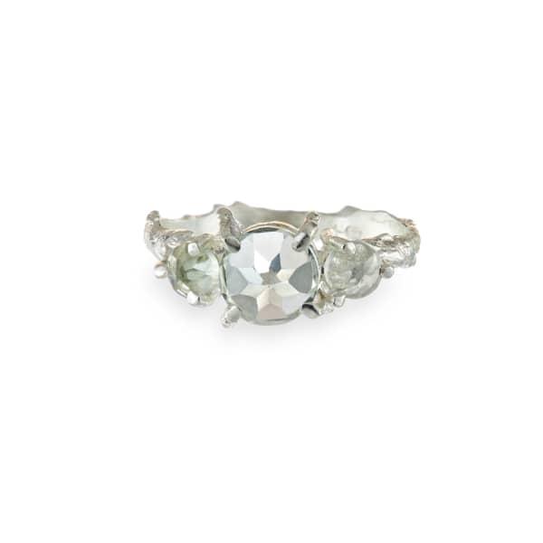 CHUPI Tiny Twinkle In The Wild Prasiolite Ring in Silver
