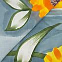 Grande Fiore Cotton Foulard - Yellow & Orange image