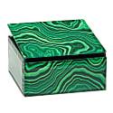 Small Square Treasure Box Malachite image