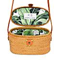 Luna Rattan Bag - Palm Leaf image