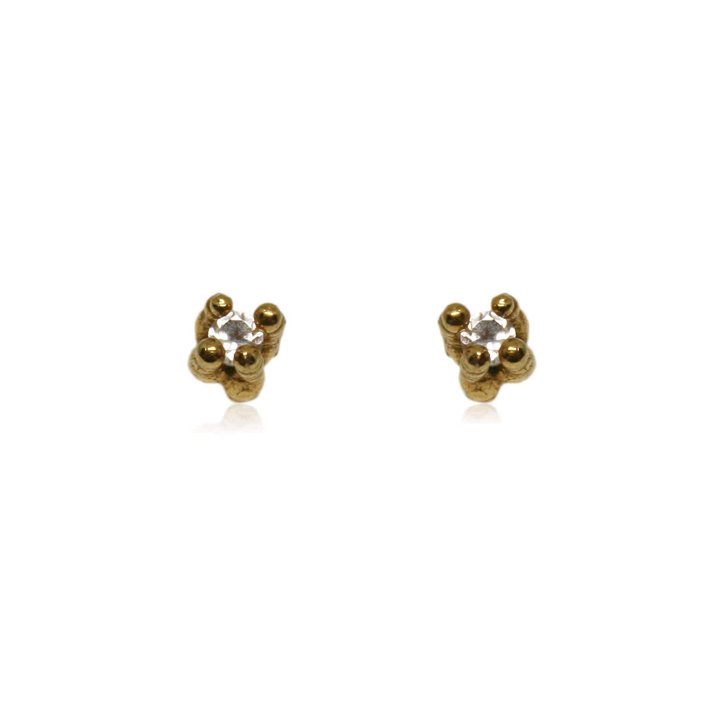 dd13af0df Coral Delicate Earrings Gold With Topaz | Karolina Bik Jewellery ...