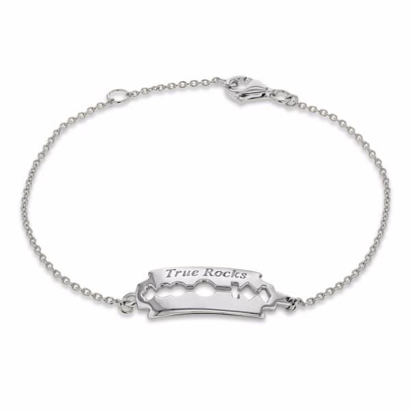 Razorblade Bracelet Silver