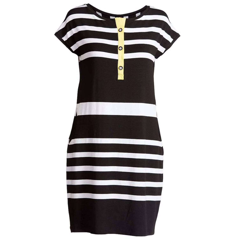 Striped Sack Dress L Conquista Fashion Wolf Badger
