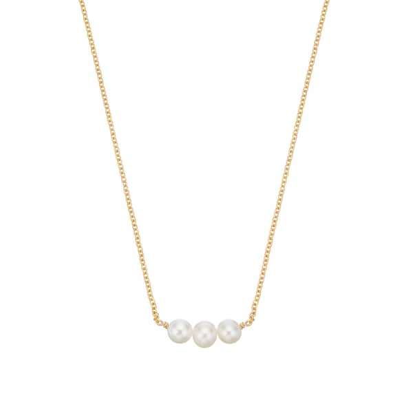 LILY & ROO Gold Cluster Pearl Choker