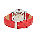 Annie Apple Silver/Red Leather Scissor Hands Watch image
