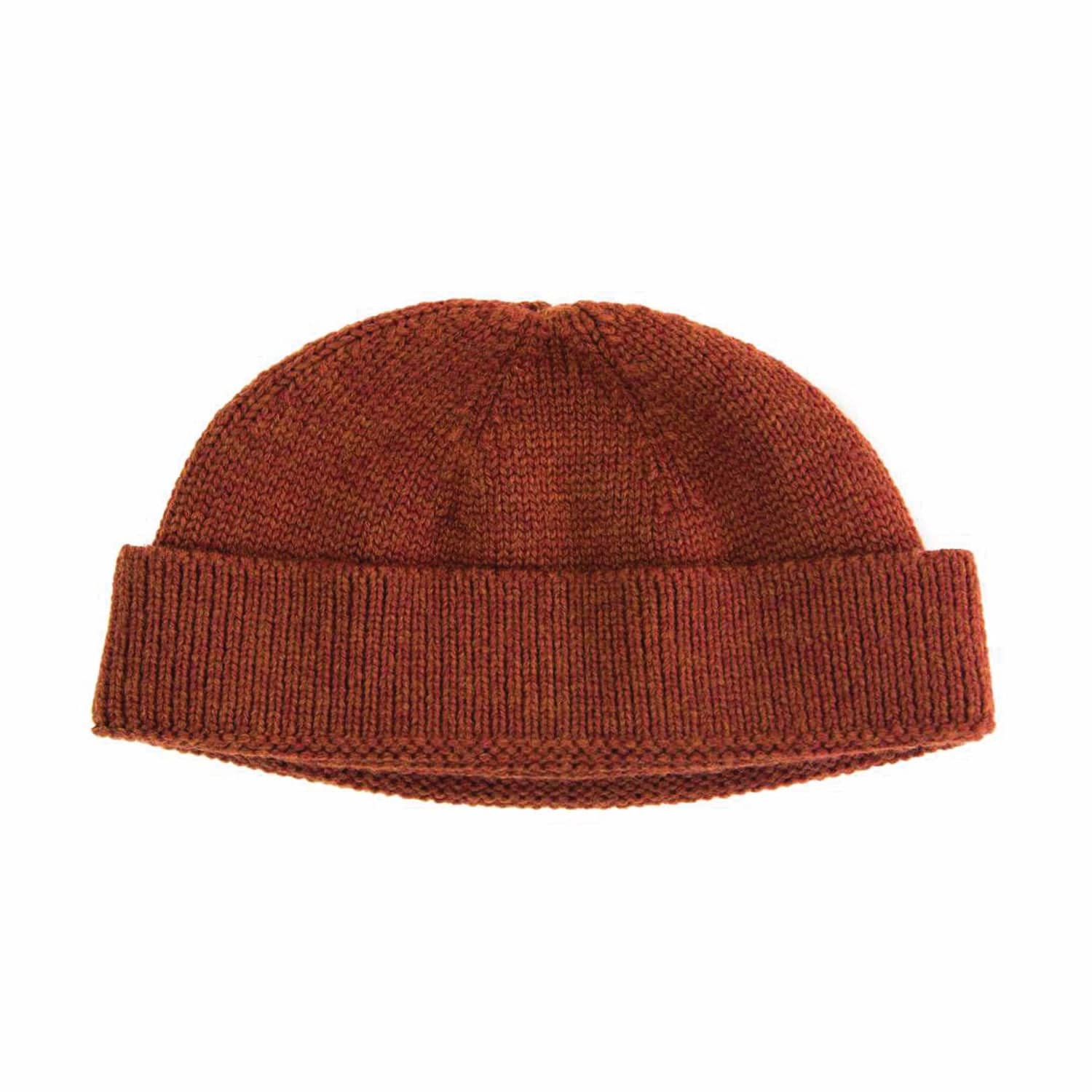 Rust Solid Wool Fisherman Beanie  717a5836267e